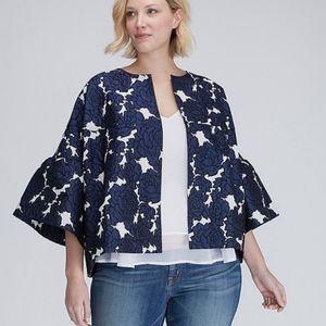 LANE BRYANT Floral Bell Sleeve Blazer Jacket 18/20